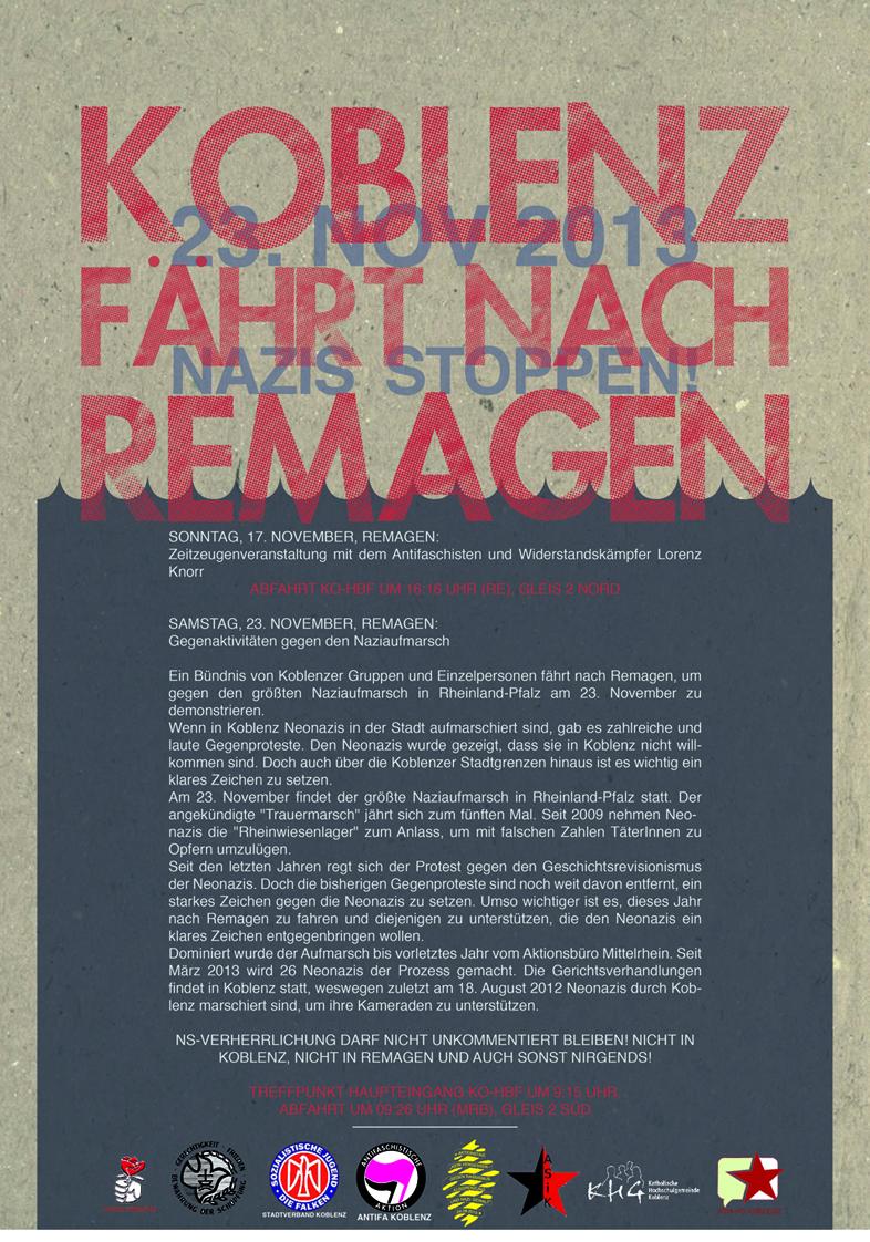2013 Koblenz fährt nach Remagen